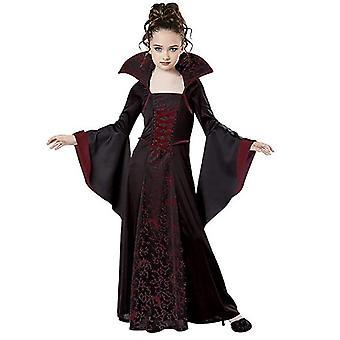 Costume de vampire Halloween pour les filles Vampiress Robe Queen Costumes