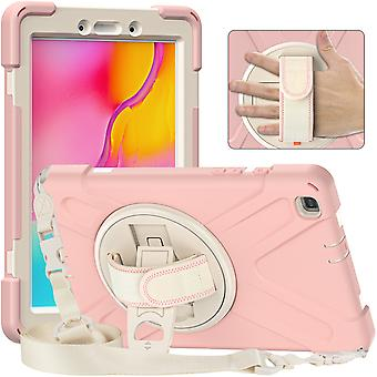 Support rotatif à 360 degrés Hand Strap + Bandoulière, Tablet Protective Cover Tab A 8 T290 2019, Tab A 8 T295 2019 Protective Shell, Full Body Prot