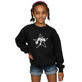 Looney Tunes Mädchen Sylvester Mono Sterne Sweatshirt