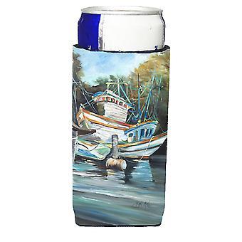 Cala de camaroneros estadounidenses y camarón barcos Ultra bebidas aisladores para latas de slim