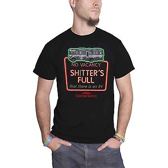 National Lampoons Christmas Vacation T Shirt Shitters Full Official Mens Black