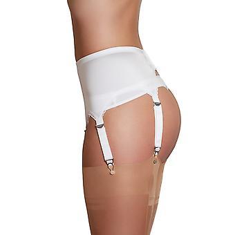 Nylon dromen NDL2 vrouwen witte effen kleur jarretelles gordel 6 riem jarretelles