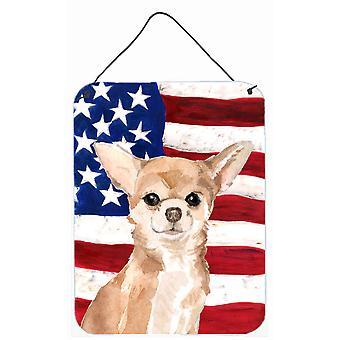 Chihuahua patriotischen Wand oder Tür hängen Drucke