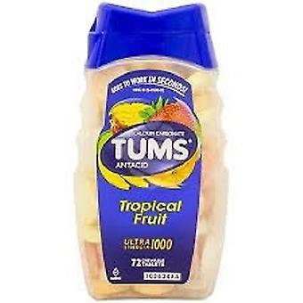 Tums Ultra 1000 Maximum Strength Tropical Fruit Antacid/Calcium Supplement