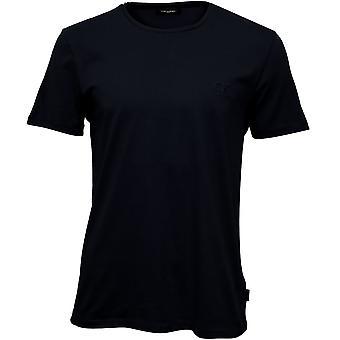 Calvin Klein Jari preget Logo Crew-hals t-skjorte, perfekt svart