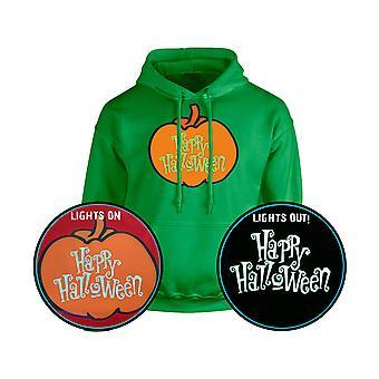 Happy Halloween Pumpkin GLOW i mörka Unisex Hoodie 10 färger (S-5XL) av swagwear