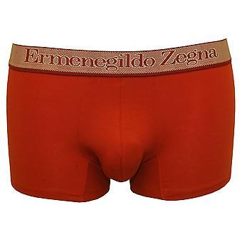 Ermenegildo Zegna Stretch Cotton Boxer Trunk, Olivetti Red