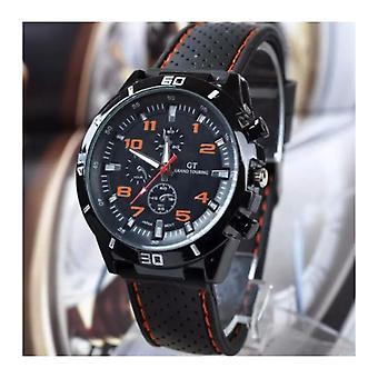 Men Analogue Sports GT Watch Black Orange