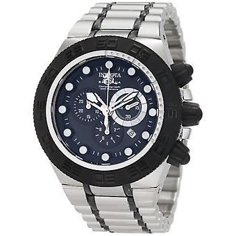 Invicta mannen ' s Subaqua 1940 chronograaf staal, Black quartz horloge