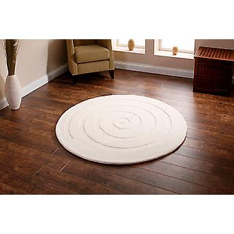 Spiral Ivory Ivory Circle Rugs Plain/Nearly Plain Rugs