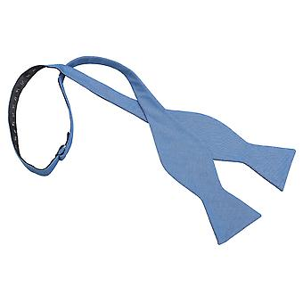 Parisian Blue Chambray Cotton Thistle Self Tie Bow Tie