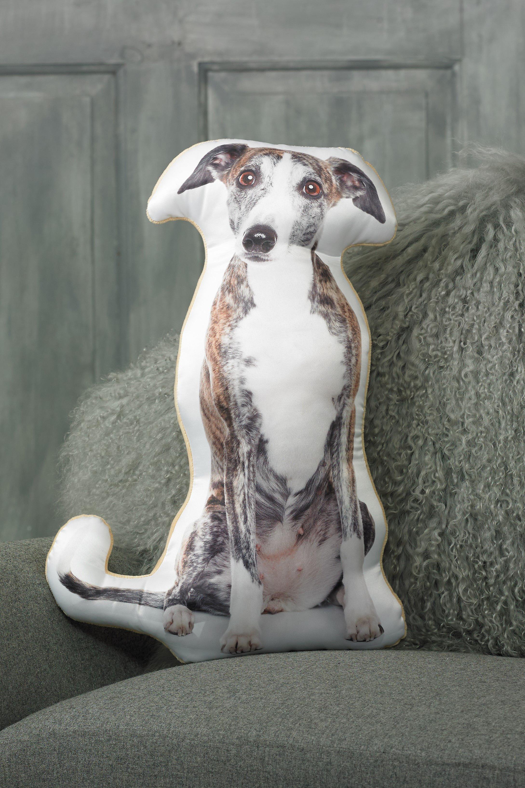 Adorable greyhound shaped cushion