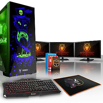 Felle GOBBLER Gaming PC, snelle Intel Core i7 8700 K 4.5 GHz, 2 TB HDD, 16 GB RAM, RTX 2060 6 GB