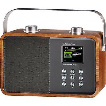 Albrecht DR 850 bärbar radio DAB +, FM AUX, Bluetooth trä, silver
