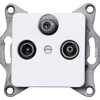 Kopp Insert TV, Radio, SAT socket Europa Arctic white, Matt 915813089
