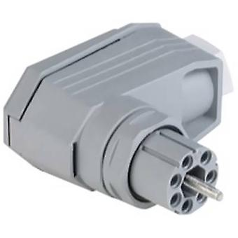Hirschmann N6R FF Mains connector N Series (mains connectors) N Socket, right angle Total number of pins: 6 + PE 5 A Grey 1 pc(s)