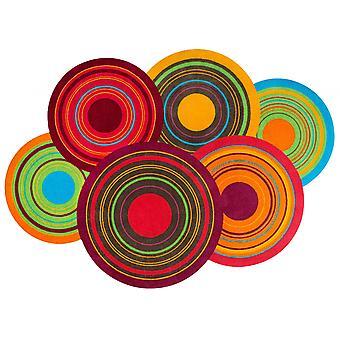 lavagem + tapete lavável de cores cósmicas seco