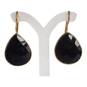 Black Onyx earrings earrings gemstone earrings gold plated