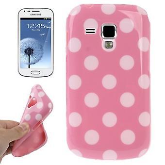 Beschermhoes TPU punten case voor mobiele Samsung Galaxy S duos S7562
