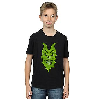 Disney Boys The Descendants Maleficent She Is Watching T-Shirt