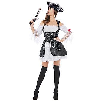 Brokaötoptik mördande pirat pirate kostym för kvinnor