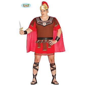 Soldat romain Centurion Carnaval soirée thème costume d'or brun pour hommes