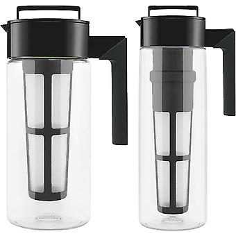 Takeya Deluxe Tritan Cold Brew Coffee Maker with Fine Mesh Coffee Filter - Black