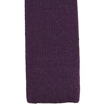 KJ Beckett Plain Wool Tie - Deep Purple