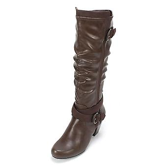 Rialto Womens Crystal gesloten teen knie High Fashion laarzen