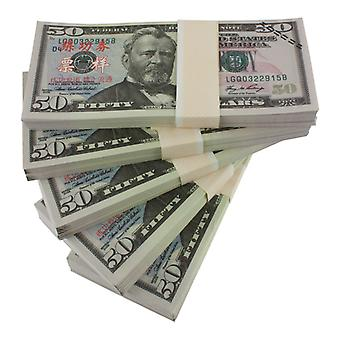 Play money-50 US dollars (100 banknotes)