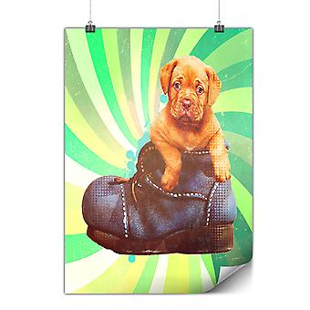 Matte or Glossy Poster with Puppy Cool Design Funny | Wellcoda | *y2191