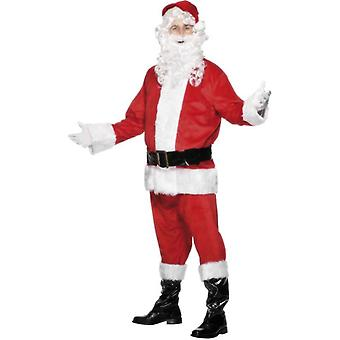 Santa Costume, Velour, Chest 46