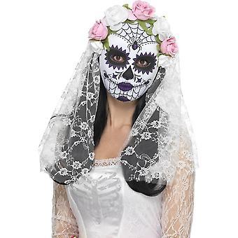 يوم قناع العروس ميتة، وكامل الوجه، أبيض