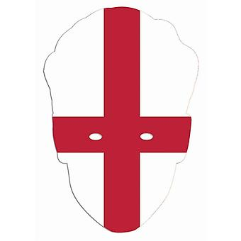 England Flag World Cup Football Party Card Fancy Dress Mask