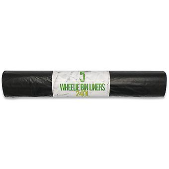 Handy Home and Garden 240 Litre Extra-large Wheelie Bin Liners (1 x 5 Bags)