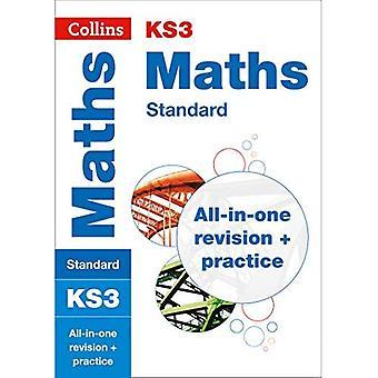 KS3 Matemáticas (estándar): revisión de All-in-One y la práctica (Collins KS3 revisión y práctica - nuevo plan de estudios de 2014)