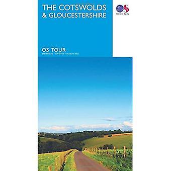 Tour der Cotswolds & Gloucestershire (OS Tourenkarte)
