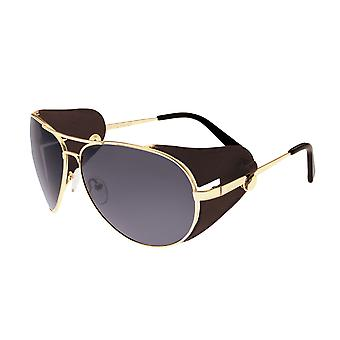 Breed Eclipse Titanium Polarized Sunglasses - Gold/Black