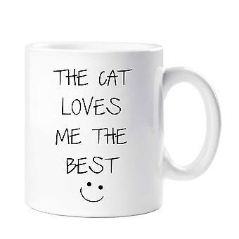 Kot uwielbia mnie najlepsze kubek