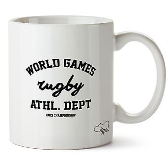 Hippowarehouse World Games Rugby Athl. Dept Aw15 Championship Printed Mug Cup Ceramic 10oz