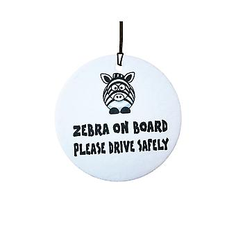 Zebra On Board Car Air Freshener