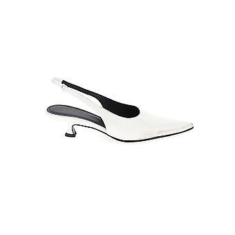 Mm6 Maison Margiela S59wl0022p2232t1005 Femmes'sandales en cuir blanc