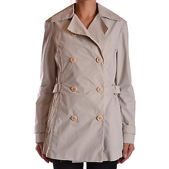 Brema Ezbc146014 Women's White Cotton Trench Coat