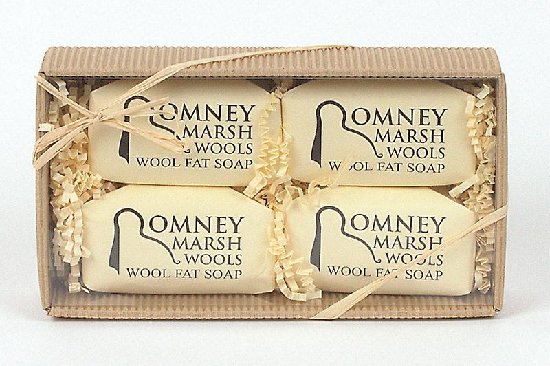 Natural Corrugated Box - 4 Wool Fat Hand Soaps