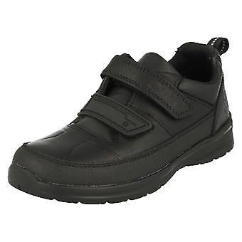 Jungen Clarks Riptape Befestigung Schule Schuhe spiegeln Ace