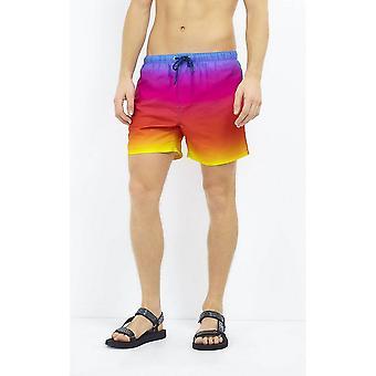 Brave Soul Mens Rainbow ombre Design shorts de bain