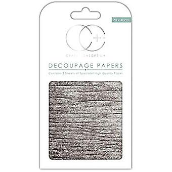 Craft consortium White Wood Decoupage Papers (CCDECP246)