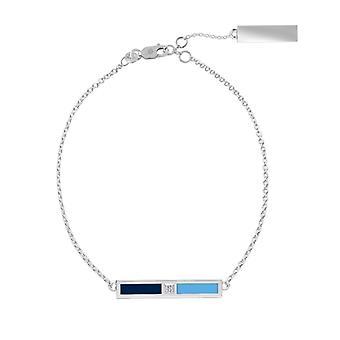 Tampa Bay Stråler Sterling Sølv Diamond Chain armbånd i blå og Sky Blue