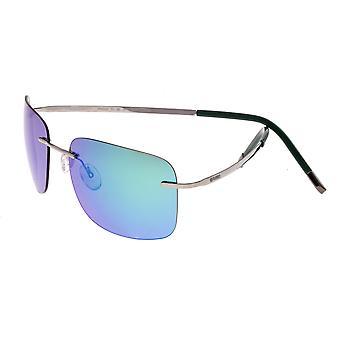 RAS Orbit Titanium gepolariseerde zonnebril - Gunmetal/blauw-groen