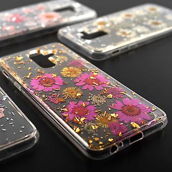 Fleur souple housse Etui pour Samsung Galaxy A6 plus 2018 A605 4smarts bouquet de glamour Rosa Silber